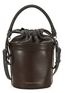 Brunello Cucinelli Women's Leather Monili Strap Bucket Bag