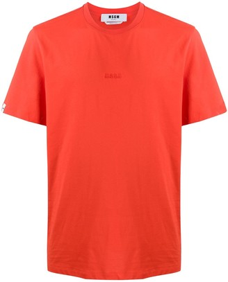 MSGM raised logo cotton T-shirt