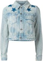Givenchy - veste en jean à étoiles