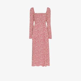 Reformation Signmund square neck midi dress
