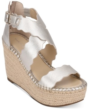 Marc Fisher Calita Platform Espadrille Wedge Sandals Women's Shoes