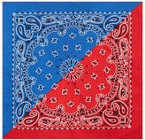 Topman Red And Blue Spliced Paisley Bandana