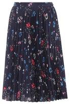 Balenciaga Floral-printed pleated skirt