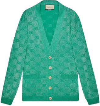 Gucci GG sparkling wool cardigan