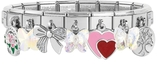 Nomination Classic Sweet Charms Sterling Silver and Stainless Steel Bracelet