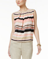 Tommy Hilfiger Striped Pleated Top