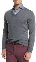 Ermenegildo Zegna High-Performance Wool Sweater, Light Gray