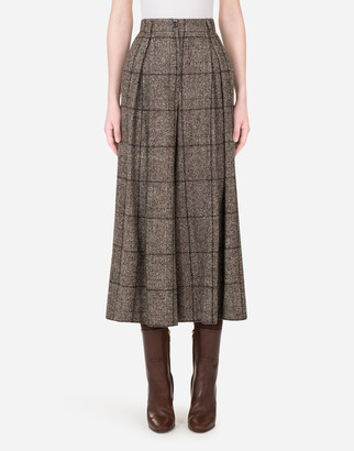 Dolce & Gabbana Wide-Leg Pants In Checked Tartan
