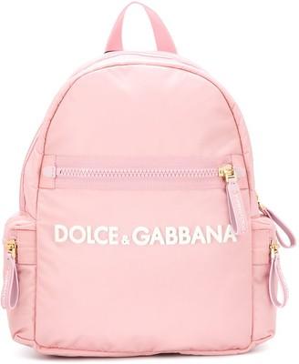 Dolce & Gabbana Kids Logo Plaque Backpack