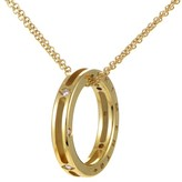 Chimento 18K Yellow Gold Diamond Ring Pendant Necklace
