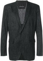 John Varvatos woven button blazer