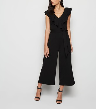 New Look Frill Belted Wide Leg Jumpsuit