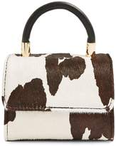 Topshop Cindy Cow Print Calf Hair Mini Crossbody Bag