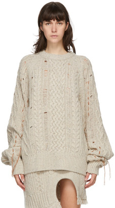 ANDERSSON BELL Beige Wool Oversized Anna Sweater