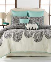 Sunham Dover Paisley 8-Piece Queen Comforter Set