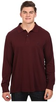 Nautica Big & Tall Long Sleeve Interlock Polo Shirt