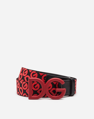 Dolce & Gabbana Belt In Nylon Webbing With Rubberized