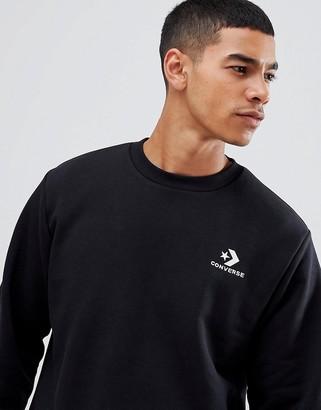 Converse star chevron sweatshirt with embroidered logo in black