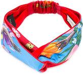 Gucci Floral Snake print headband