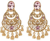Oscar de la Renta Crystal Filigree C Earrings