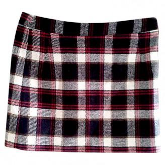 Tara Jarmon Burgundy Wool Skirt for Women
