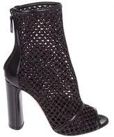 Casadei Peep Toe Ankle Boots