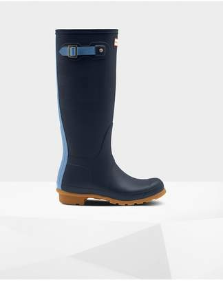 Hunter Womens Original Tall Exploded Logo Texture Rain Boots