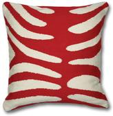 Jonathan Adler Red and Natural Zebra Pillow
