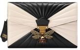 Gucci Queen Margaret Matelasse Leather Clutch - Black