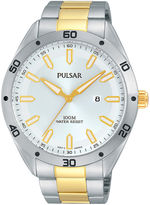Pulsar Mens Two-Tone Stainless Steel Watch PH9091X