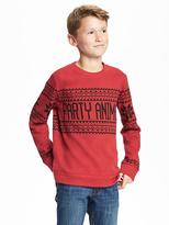 Old Navy French-Rib Crew-Neck Sweater for Boys