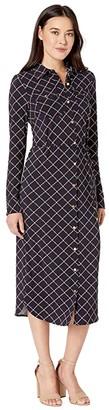 Lauren Ralph Lauren Printed Jersey Shirtdress (Lauren Navy Multi) Women's Dress