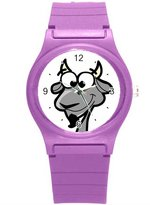 "Kidozooo Boys Girls Cartoon Goat 1 3/8"" Diameter Plastic Watch"