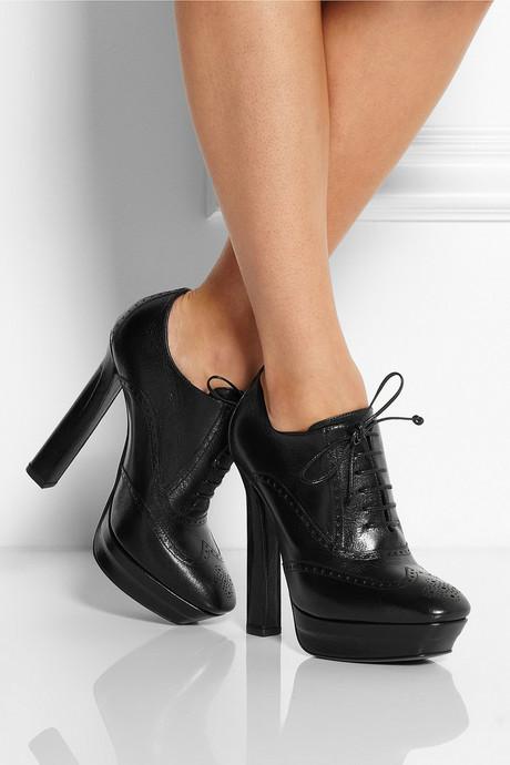 Bottega Veneta Brogue-style leather ankle boots
