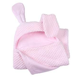 Clair De Lune Honeycomb Hooded Ear Blanket (Pink)