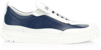 Salvatore Ferragamo Aaron Gancini Two-Tone Leather Sneakers