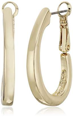 Napier -Tone Large Oval Hoop Earrings