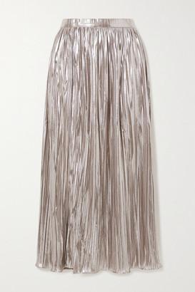 Saloni Camille Plisse-lame Midi Skirt