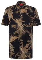 HUGO BOSS - Slim Fit Polo Shirt In Mercerized Pique - Dark Green