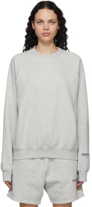 Essentials Grey Fleece Crewneck Sweatshirt