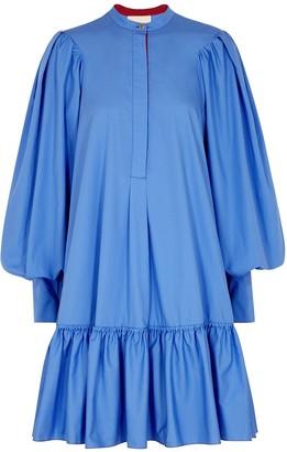 Roksanda Deva blue cotton-poplin mini dress