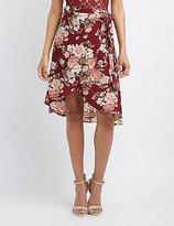 Charlotte Russe Floral Midi Wrap Skirt