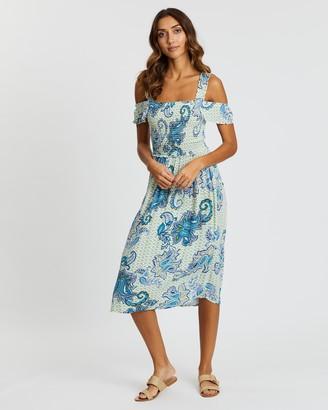 Dorothy Perkins Paisley Print Shirred Dress
