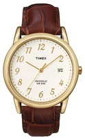 Timex Men's Easy Reader® Watch with Leather Strap - Gold/Brown T2M441JT