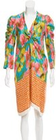 Dries Van Noten Ruched Silk Dress