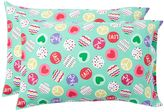 Peace And Love Flannel Pillowcases, Set of 2