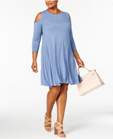 Style&Co. Style & Co Plus Size Cold-Shoulder Dress, Created for Macy's