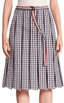 Thom Browne A-Line Gingham Skirt