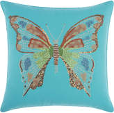 Nourison Beaded Butterfly Outdoor Throw Pillow