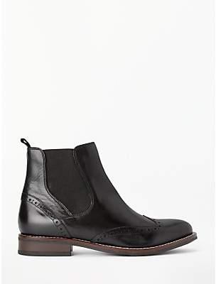 John Lewis & Partners Phoebe Brogue Detail Chelsea Boots